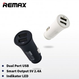 Remax Rocket Car Charger 2 Port 2.4A with USB Cable - RCC-217 - Black