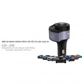 Remax USB Car Charger 2 Port 4.8A dengan Cigarette Plug - RCC-218 - Black - 2