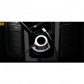 Remax USB Car Charger 2 Port 4.8A dengan Cigarette Plug - RCC-218 - Black - 3