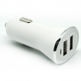 Proda Yuss Series Car Charger 2 Port 2.1A - PD-C01 - White - 3
