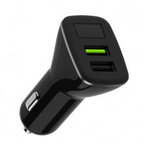 Remax Star Vein Car Charger Mobil 2 USB QC 3.0 18W - WP-C16 - Black