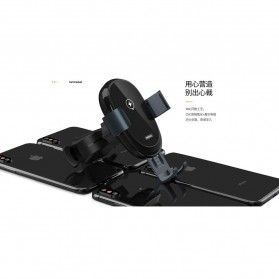 Remax Car Wireless Charger Intelligent Sensor Air Vent Mount - RM-C39 - Black - 2