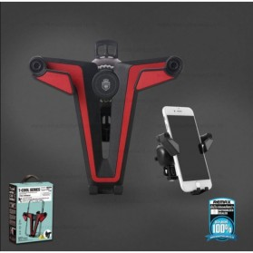 Remax Proda T Cool Series Car Holder Mount Phone - PD-C01 - Black/Red - 6