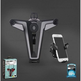 Remax Proda T Cool Series Car Holder Mount Phone - PD-C01 - Black/Red - 7