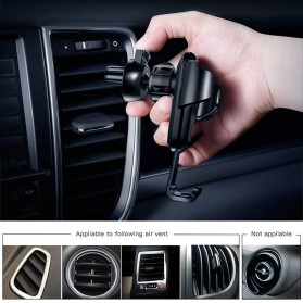 Baseus Air Vent Car Holder Smartphone Autolock - Black - 3