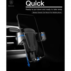 Baseus Air Vent Car Holder Smartphone Autolock - Black - 7