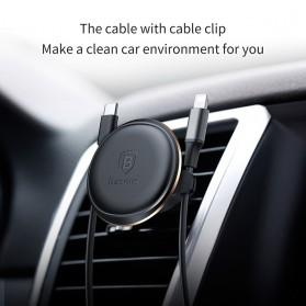 Baseus 360 Rotation Magnetic Air Vent Car Holder Smartphone - SUGX-A01 - Black - 5