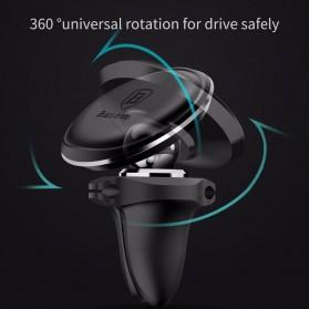 Baseus 360 Rotation Magnetic Air Vent Car Holder Smartphone - SUGX-A01 - Black - 7