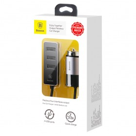 Baseus Enjoy USB Car Charger 3 Port 5.5A - CCTON-01 - Black - 8