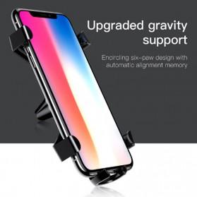 Baseus Air Vent Smartphone Holder Mobil - SUYL-SP01 - Black - 4