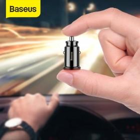 Baseus Mini Car Charger Mobil 2 USB Port 3.1A - CCALL-ML01 - Black