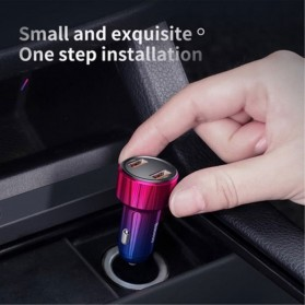 Baseus Car Charger 2 Port USB Type C 6A 45W LED Display - CCMLC20C-01 - Black - 9
