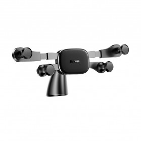 Baseus Car Holder Smartphone Horizontal Screen Gravity - SUYL-HP01 - Black - 2