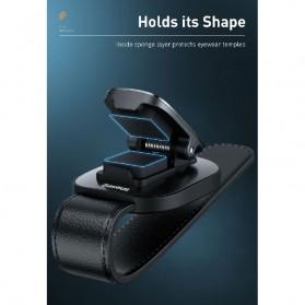 Baseus Clip Gantungan Kacamata Car Eyewear Clamping - ACYJN-B01 - Black - 7