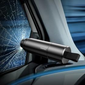 Baseus Pemecah Kaca Mobil Sharp Safety Hammer Tool - CRSFH-0G - Black - 3