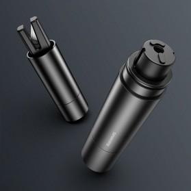Baseus Pemecah Kaca Mobil Sharp Safety Hammer Tool - CRSFH-0G - Black - 4