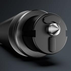 Baseus Pemecah Kaca Mobil Sharp Safety Hammer Tool - CRSFH-0G - Black - 5
