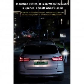 Baseus Lampu LED Pintu Mobil Door Open Warning Light 2 PCS - CRFZD-01 - Black - 3