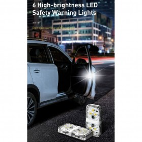 Baseus Lampu LED Pintu Mobil Door Open Warning Light 2 PCS - CRFZD-01 - Black - 9