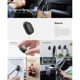 Baseus Gantungan Organizer Barang Mobil Car Hook Mount 4 PCS - ACGGBK-01 - Black - 3