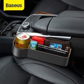 Mobil - Baseus Kotak Organizer Penyimpanan Barang Mobil Seat Gap Filler - CRCWH-01 - Black