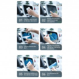Baseus Sticker Oval Kaca Spion Rainproof Waterproof Protective 135x95mm 2 PCS - SGFY-C02 - Transparent - 10