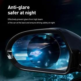 Baseus Sticker Oval Kaca Spion Rainproof Waterproof Protective 135x95mm 2 PCS - SGFY-C02 - Transparent - 3