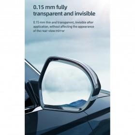 Baseus Sticker Oval Kaca Spion Rainproof Waterproof Protective 135x95mm 2 PCS - SGFY-C02 - Transparent - 9