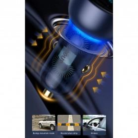 Baseus Car Charger 2 Port USB Type C 6A 65W LED Display - CCKX-C0A - Black - 11