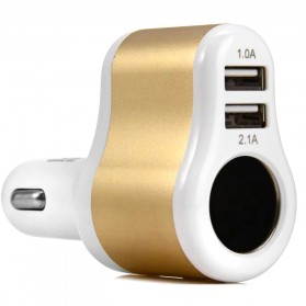 Hoco UC206 USB Car Charger 2 Ports 3.1A - White