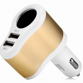 Hoco UC206 USB Car Charger 2 Ports 3.1A - White - 4