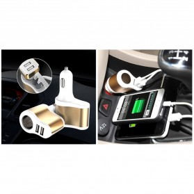 Hoco UC206 USB Car Charger 2 Ports 3.1A - White - 5