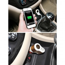 Hoco UC206 USB Car Charger 2 Ports 3.1A - White - 7