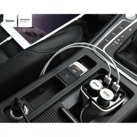 Hoco Z11 Charger Mobil Dual USB dan Lighter Slot - White - 7