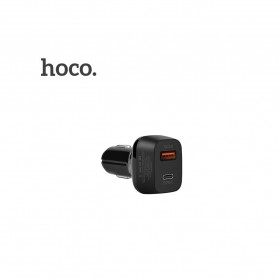 HOCO Car Charger Mobil 2 USB Quick Charge 3.0 - Z15 - Black - 3