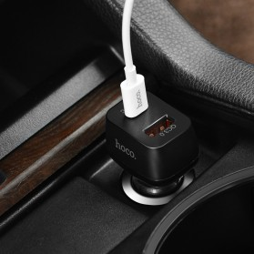 HOCO Car Charger Mobil 2 USB Quick Charge 3.0 - Z15 - Black - 7