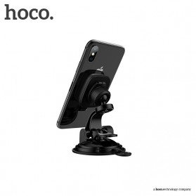 Hoco Happy Journey Series Suction Cup Holder Smartphone Mobil Magnet - CA28 - Black - 3