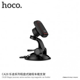Hoco Happy Journey Series Suction Cup Holder Smartphone Mobil Magnet - CA28 - Black - 5