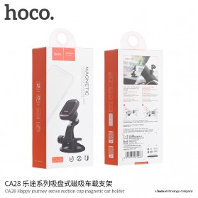 Hoco Happy Journey Series Suction Cup Holder Smartphone Mobil Magnet - CA28 - Black - 8