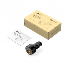 Aukey USB Car Charger 2 Port 36W with QC 3.0 & AiPower - CC-T8 - Black - 8