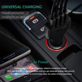 Aukey Charger Mobil 4 Port 48W 2.4A AiPower - CC-01 - Black - 8