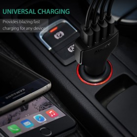 Aukey Charger Mobil 4 Port 55W 2.4A QC 3.0 & AiPower - CC-T9 - Black - 8