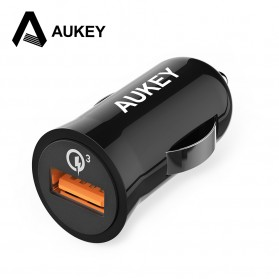 Aukey Charger Mobil 1 Port 19.5W 3A QC3.0 - CC-T10 - Black