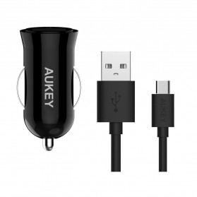 Aukey Charger Mobil 1 Port 19.5W 3A QC3.0 - CC-T10 - Black - 4