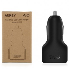 Aukey Charger Mobil 2 Port 24W 2.4A AiPower - CC-S3 - Black - 6