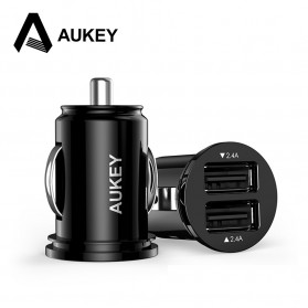 Aukey USB Car Charger 2 Port 4.8A 24W AiPower - CC-S1 - Black