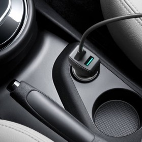 AUKEY Car Charger Mobil 1 Port + 1 USB Type C Line QC3.0 AiPower - CC-Y4 - Black - 4