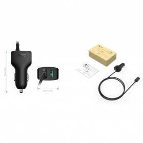 AUKEY Car Charger Mobil 1 Port + 1 USB Type C Line QC3.0 AiPower - CC-Y4 - Black - 6