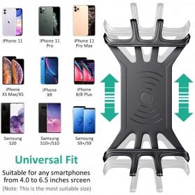 BUBM Smartphone Holder Sepeda Universal - XD063 - Black - 4
