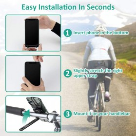 BUBM Smartphone Holder Sepeda Universal - XD063 - Black - 8